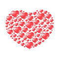 Red Heart Shaped Balloons Royalty Free Stock Photo