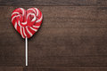Red heart-shaped lollipop Royalty Free Stock Photo