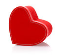 Red heart-shaped present box Royalty Free Stock Photography