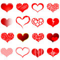 Red heart shapes Royalty Free Stock Photos