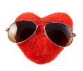 Red heart in a sunglasses Royalty Free Stock Photo
