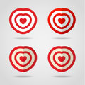 Red heart target icon love aim concept vector illustration Stock Photo