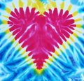 Red heart tie dyed Royalty Free Stock Image
