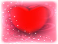 Red heart valentines day pink background Royalty Free Stock Photos