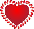 Red heart a vector drawing represents design Royalty Free Stock Images