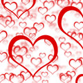 Red Hearts Background Stock Photography
