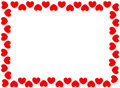 Red hearts border Stock Photography