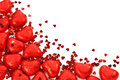 Red hearts confetti Stock Image