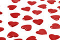 Red hearts confetti on white background Stock Image