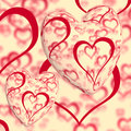 Red Hearts Design Royalty Free Stock Image
