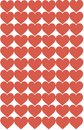 Red Hearts Design on White Background. Love, Heart, Valentine`s Day. Can be used for Articles, Printing, Illustration purpose,