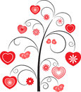 Red Hearts Flower Tree Royalty Free Stock Photo