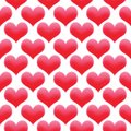 stock image of  Hearts illustration seamless pattern Valentine`s day background colored red