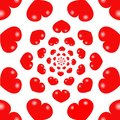 Red hearts infinity background