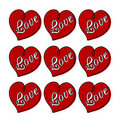 Red hearts with love illustration Stock Photo