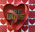Love words and hearts Royalty Free Stock Photo