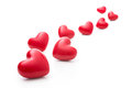 Red hearts meny isolated on the white background Royalty Free Stock Image