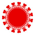 Red Hearts Motif Stock Photography