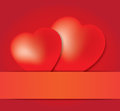 Red hearts in paper eps vector illustration Royalty Free Stock Photography