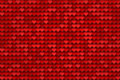 Red hearts pattern Royalty Free Stock Photography