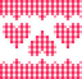 Red Hearts Pattern Royalty Free Stock Image