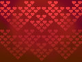 Red hearts patterns valentines background Royalty Free Stock Photography