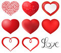 Red Hearts Set Royalty Free Stock Photo