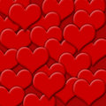 Red hearts valentine background Royalty Free Stock Image