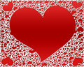 Red hearts, valentines background Stock Images