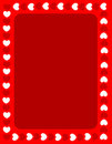 Red hearts valentines day border Royalty Free Stock Images