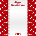 Red hearts valentines day greeting card Royalty Free Stock Image