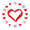 Red Hearts. Vector Illustratio...
