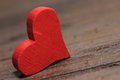 Red hearts on wooden table Royalty Free Stock Photography