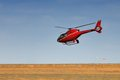 Red Helicopter Royalty Free Stock Photos