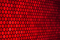 Red Hexagon Pattern Royalty Free Stock Photography