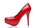 Red high heel shoes Stock Photos