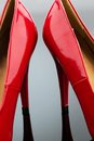 Red high heels symbolic photo for fashion elegance and eroticism Stock Image