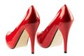 Red high heels symbolic photo for fashion elegance and eroticism Royalty Free Stock Photos