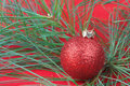 Red holiday ornament Stock Images