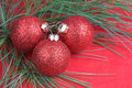 Red holiday ornament Royalty Free Stock Photography