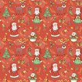 Red holiday seamless pattern christmas background Royalty Free Stock Photo