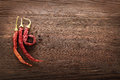 Red hot chili pepper on wood Royalty Free Stock Photo