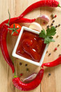 Red hot chili sauce Stock Photo