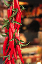Red hot chilly peppers. Royalty Free Stock Photo