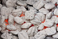 Red hot coals Stock Photos