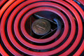 Red hot electric stove coils Stock Photos