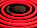 Red hot element electric stove Royalty Free Stock Photos