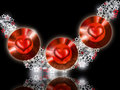 Red Hot Jewel Hearts Stock Photo