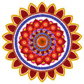 Red hot sun floral symbol Royalty Free Stock Photo