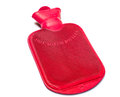 A red hot water bottle on white background Royalty Free Stock Images